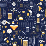 Graphic pattern of elements for sewing Stock Images