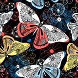 Graphic pattern fancy butterflies Stock Photo