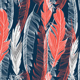 Graphic pattern of feathers Stock Image