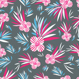 Graphic pattern of flowers Stock Photos