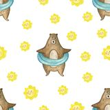 Graphic pattern with leafs. Yellow backgraund. Black and white leafs royalty free illustration