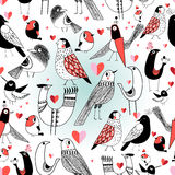 Graphic pattern in love birds Stock Image