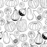 Graphic pattern with pumpkins