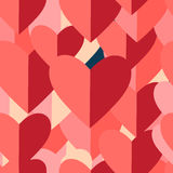 Graphic pattern of red hearts Royalty Free Stock Images