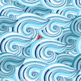 Graphic pattern of waves Royalty Free Stock Photography
