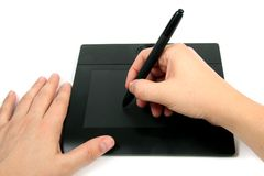 Graphic PC tablet Stock Images