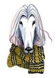 Graphic pen dot illustration. Animal`s head. Royalty Free Stock Photography