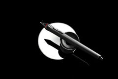 Graphic pen for tablet. The graphic pen for tablet Stock Photography