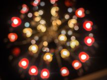Graphic photo of textured surfaceGraphic photo Christmas mood with circular bokeh, out of focus stock images