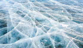 Graphic quality line cracks in ice Royalty Free Stock Image
