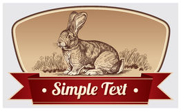 Graphic rabbit Royalty Free Stock Photography
