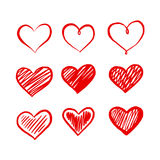 Graphic red heart, vector Stock Photo