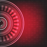 Graphic red lines and circle design abstract background Royalty Free Stock Photos