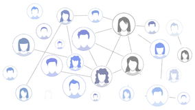 Graphic representation of Social media Network stock footage