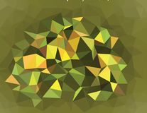 Graphic resource  for your artworks. Creative  abstract background.  Design with triangles. Polygonal vector clip art. Creative abstract vector colorful Stock Photography