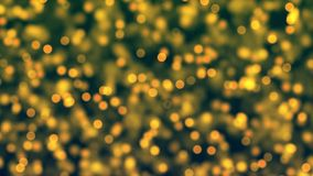 Graphic Resources: Golden yellow de-focused lights with a circular shape stock video