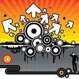 Graphic Revenge. The revenge of graphics! Design Elements goes skyhigh royalty free illustration