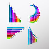 Graphic with rising colorful columns Stock Image