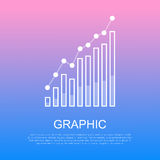 Graphic Rising Column Chart and Text under It Stock Photography