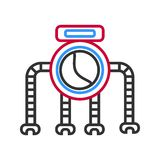 Graphic robot with four legs isolated on white royalty free illustration