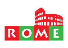 Graphic for Rome Royalty Free Stock Images