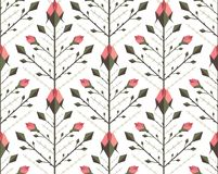Graphic Roses Pattern Background Royalty Free Stock Photography