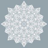 Graphic round decorative pattern. White abstract ornament. Graphic round decorative pattern. White ornament royalty free illustration