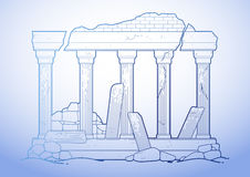 Graphic ruined ancient architecture Royalty Free Stock Photography