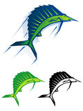 Graphic sailfish illustration Royalty Free Stock Photography