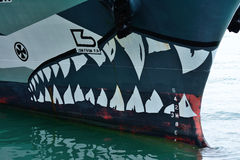 Graphic on the Sam Simon, Sea Shepherd vessel Royalty Free Stock Photo