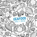 Graphic seafood, vector. Graphic seafood on white background, EPS 10 file vector illustration