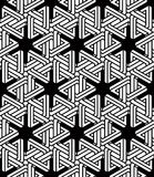 Graphic seamless abstract pattern, regular geometric black and w Stock Photography