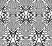 Graphic seamless abstract pattern, regular geometric black and w Royalty Free Stock Photo
