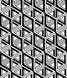Graphic seamless abstract pattern, regular geometric black and w Royalty Free Stock Photos