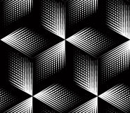 Graphic seamless abstract pattern, regular geometric black and w Royalty Free Stock Images