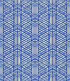 Graphic seamless abstract pattern, regular geometric colorful 3d Royalty Free Stock Photography