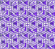 Graphic seamless abstract pattern, regular geometric colorful 3d Royalty Free Stock Images