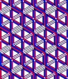 Graphic seamless abstract pattern, regular geometric colorful 3d. Background. Contrast ornament, EPS10 transparent backdrop Stock Photography