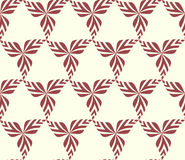 Graphic seamless background with leaves. Vector pattern. Royalty Free Stock Photo