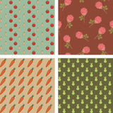 Graphic seamless backgrounds Royalty Free Stock Images