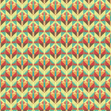 Graphic seamless colorful pattern. Flat style Royalty Free Stock Photography