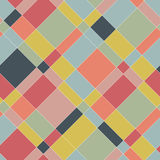 Graphic seamless pattern. Colorful abstract plaid. Royalty Free Stock Photography