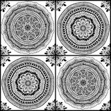 Graphic Seamless Pattern Of Mandala Ornaments. Royalty Free Stock Photography