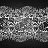 Graphic seashells border Stock Image