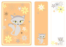 Graphic set with cat Stock Image
