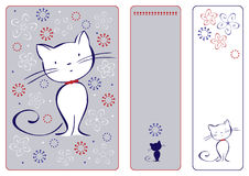 Graphic set with cat Stock Images
