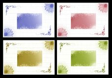 Graphic set with daisies and hearts Royalty Free Stock Images