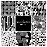 Graphic set of different patterns Stock Photography
