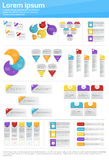Graphic Set Finance Infographic Icon Business Concept Royalty Free Stock Photos