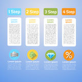 Graphic Set Finance Infographic Icon Business Concept. Flat Vector Illustration Stock Photos